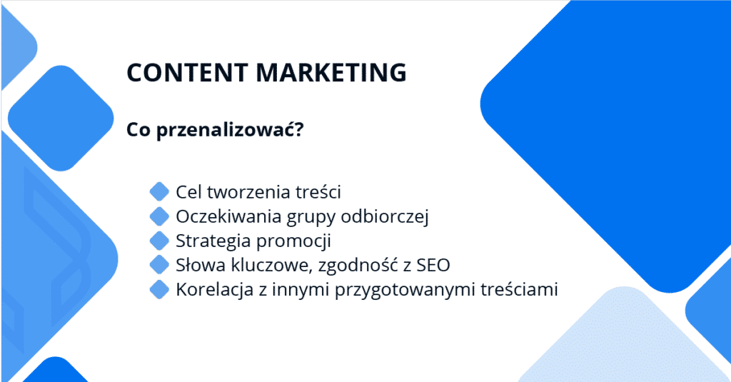 content marketing - co wziąć pod uwagę