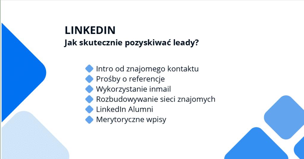 LinkedIn - jak skutecznie pozyskiwać leady