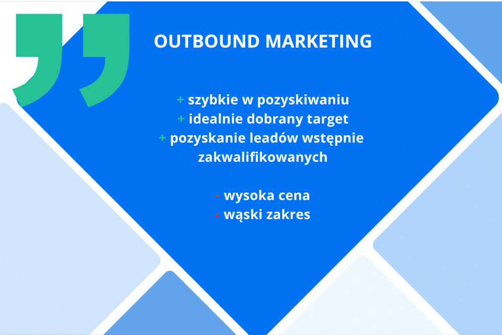 wady i zalety outbound marketingu