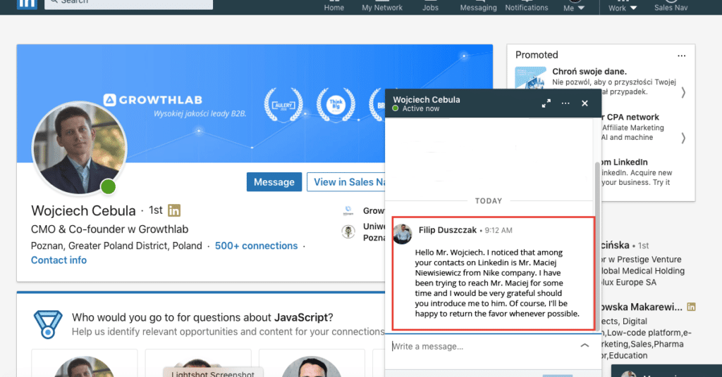 Customer aquisition on Linkedin - Referral - how to use recommendations