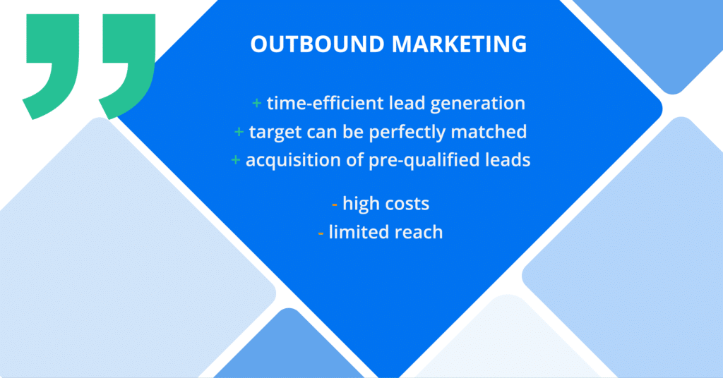 Outbound marketing lead generation - pros and cons