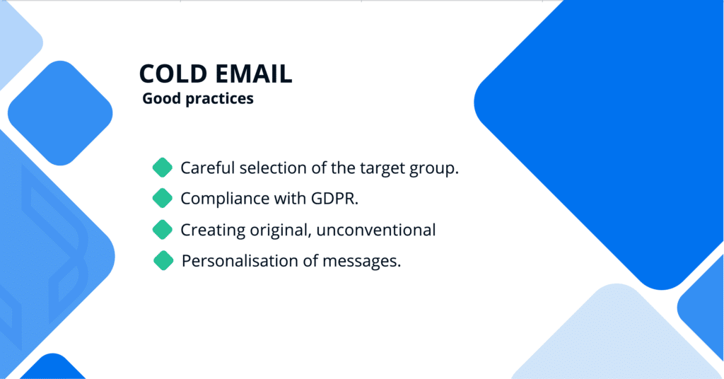 Customer aquisition using Cold Email - good practices
