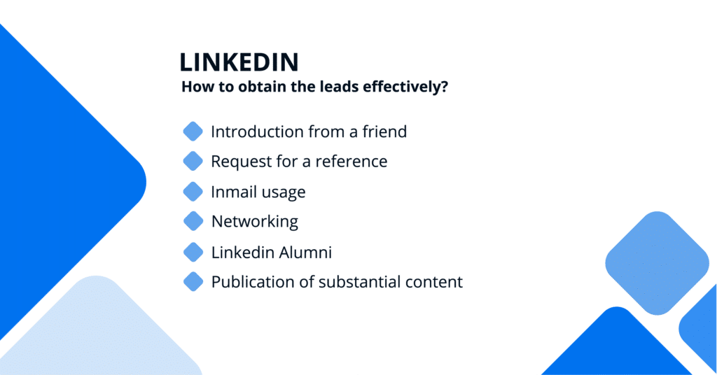 Linkedin - How to obtain the leads effectively?