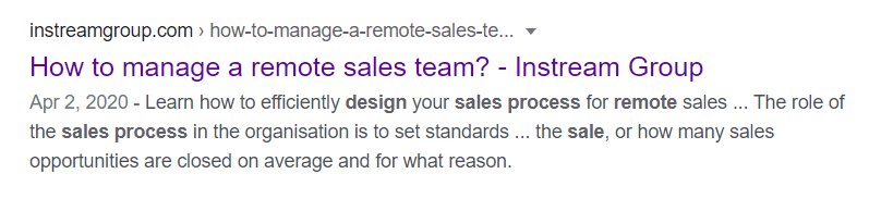 Customer acquisition using Google - organic search results