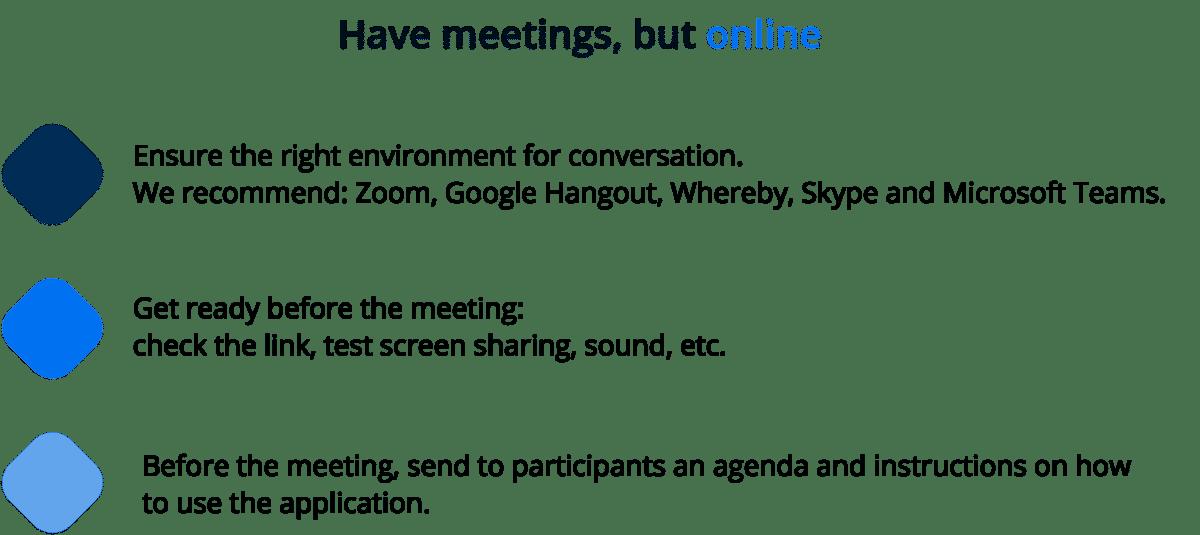 remote online meetings