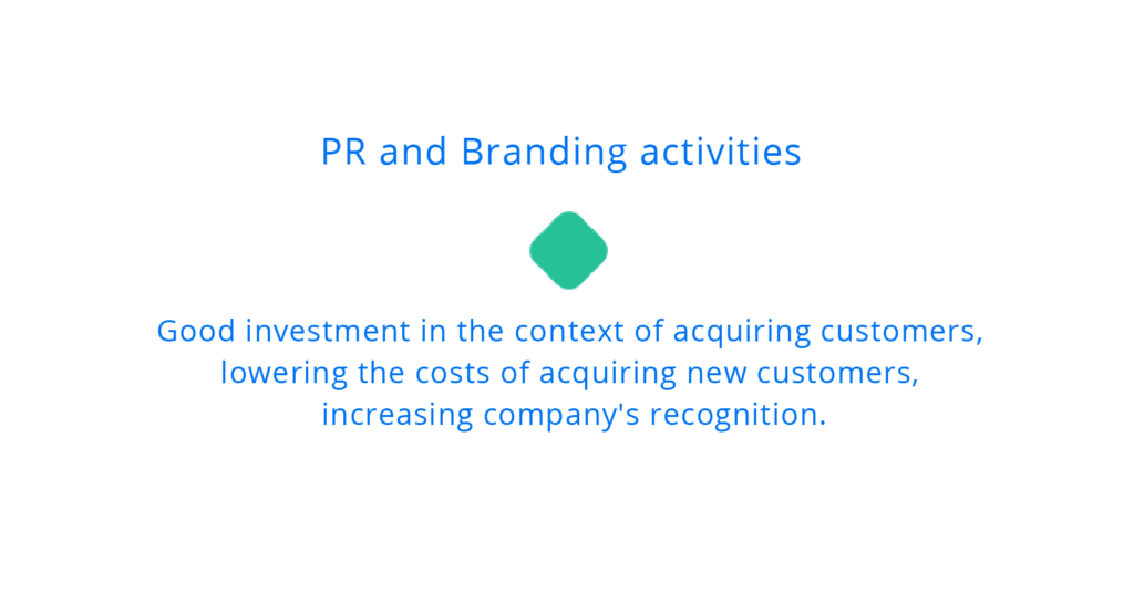 Acquiring customers - PR and building brand awareness