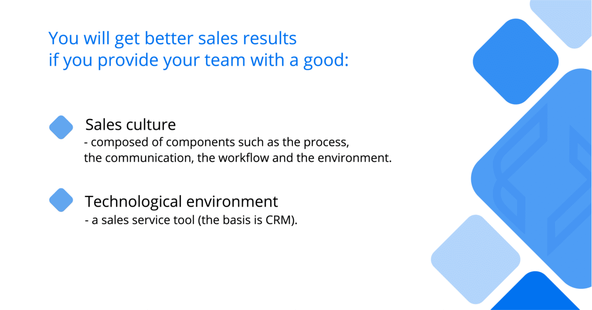 Increasing sales—the key elements that will help the sales team to achieve better results