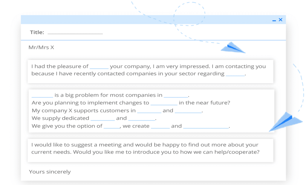 Acquiring b2b customers —sample cold email