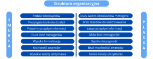 Płaska i smukła struktura organizacji - róznice