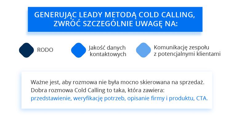 cold calling jako metoda generowania leadów - na co zwrócić uwagę?