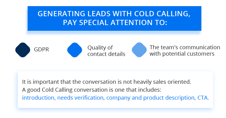 cold calling as a method of lead generation - what to pay attention to?