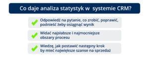 Co daje analiza statystyk w systemie CRM?